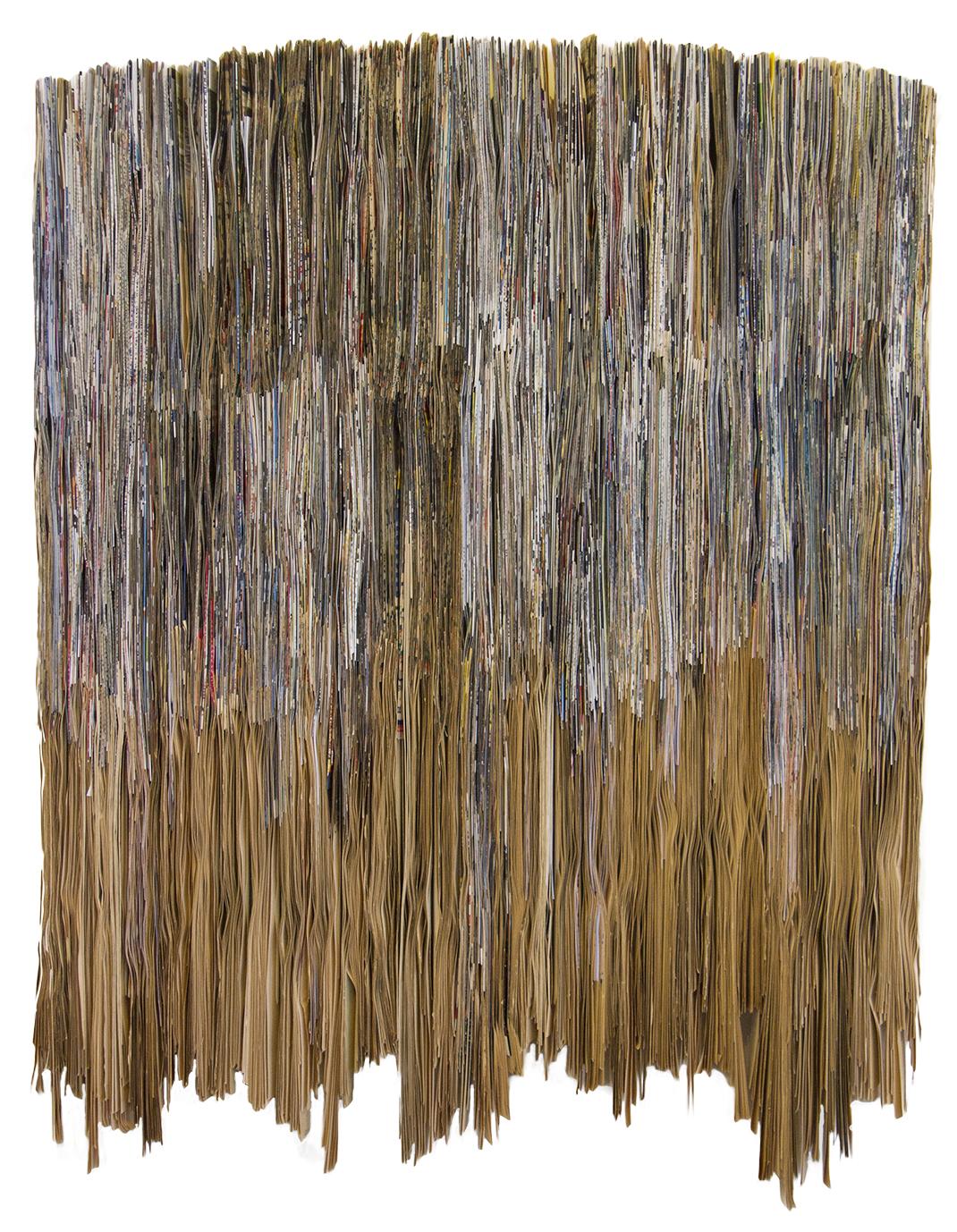 Rain, Folded Paper | 105x80cm,