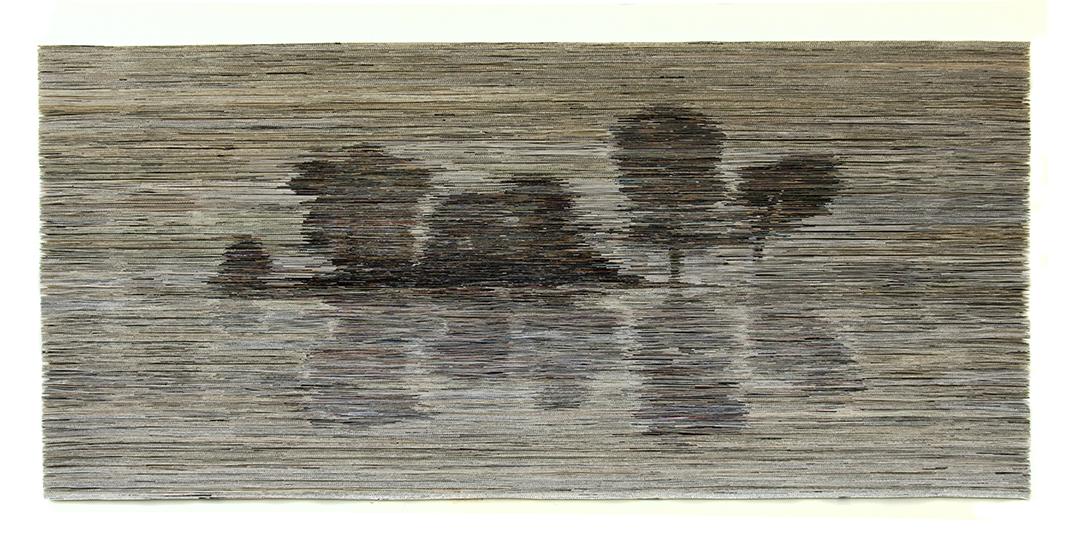 Trees | Folded paper | 240x120 cm