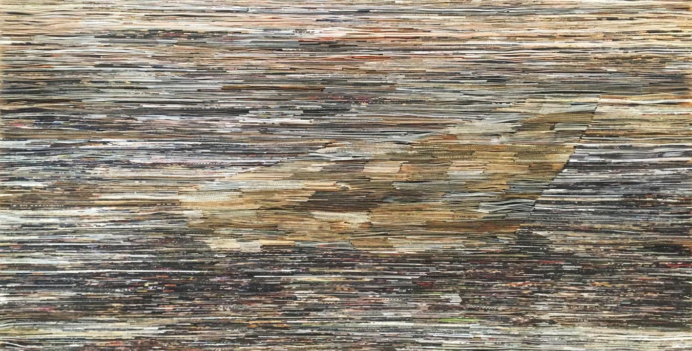 Fog | Folded Paper | 60x115cm
