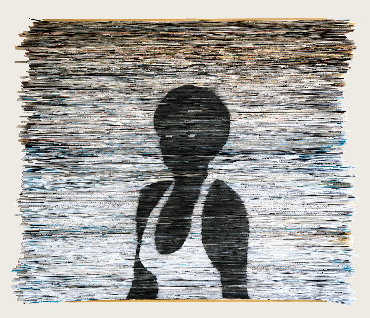 Seashore | Folded Paper | 90x75cm
