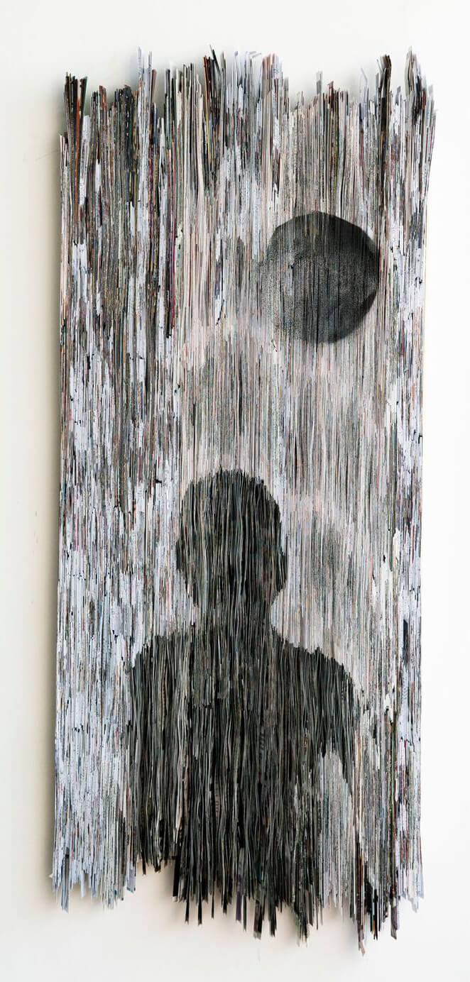 Luna | Folded Paper | 50x125cm