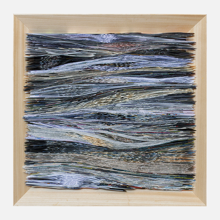 Waves, Folded paper, 70x70cm, 2019