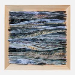 Waves, Folded paper, 70x70cm, 2019