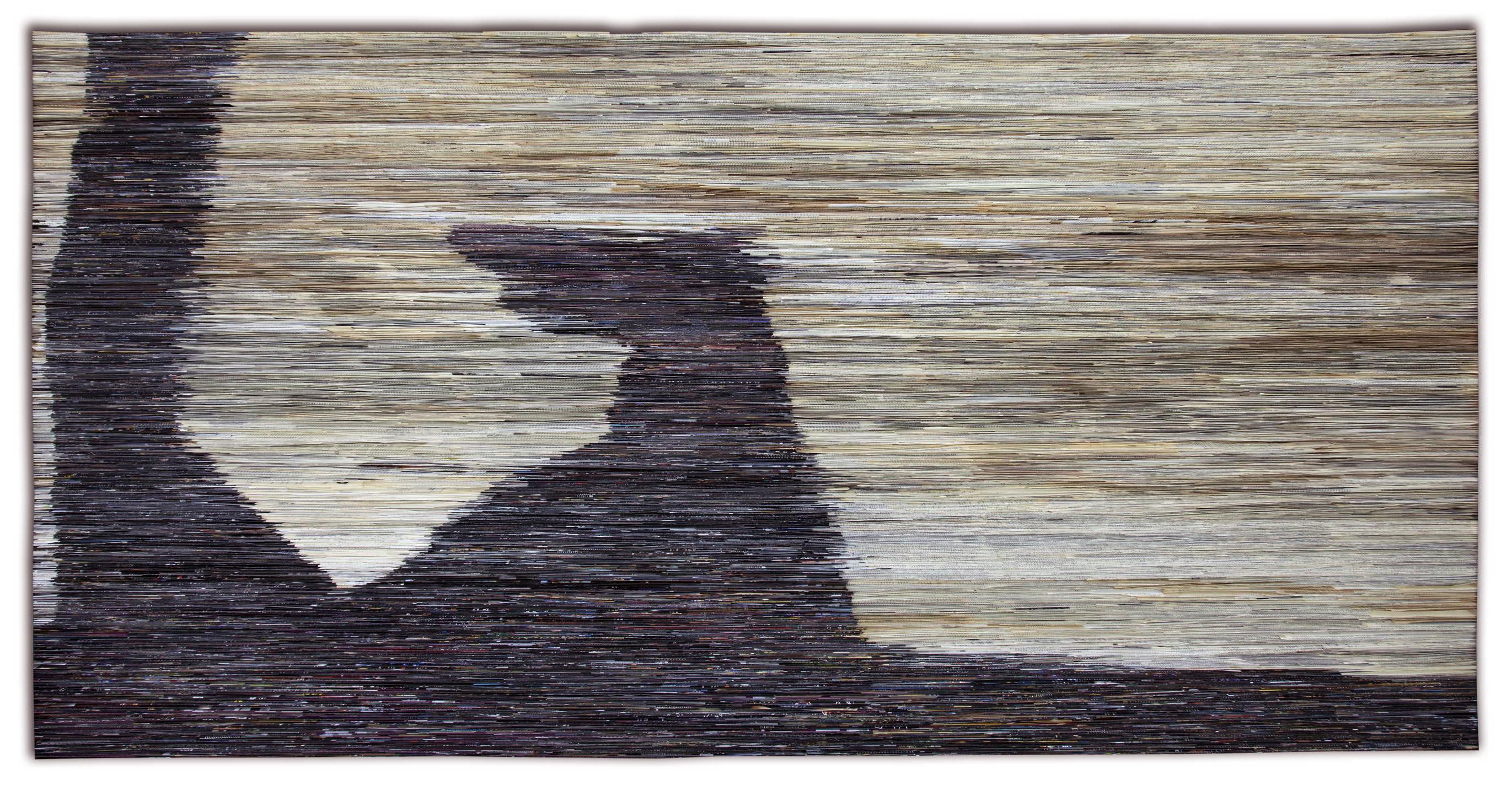 Desert Ship | Folded paper |  240x120cm