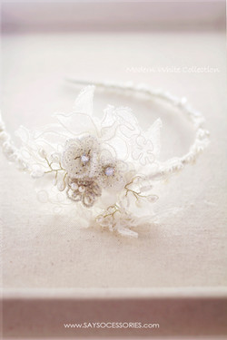 French beaded lace hairband