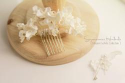 white flower headpiece