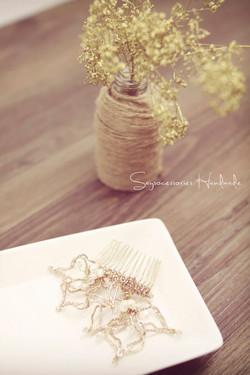Gold x Pearl Bridal Fascinator
