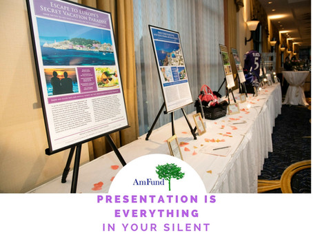Presentation is everything at your Silent Auction