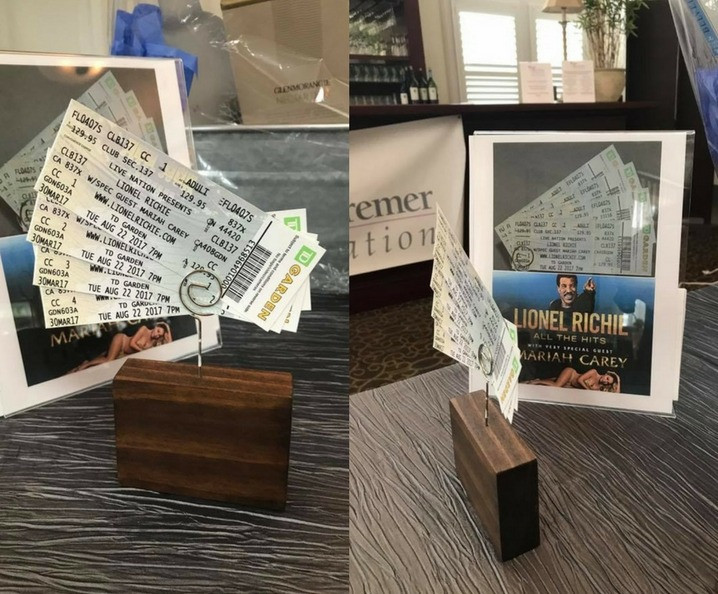 Concert Tickets for Silent Auction