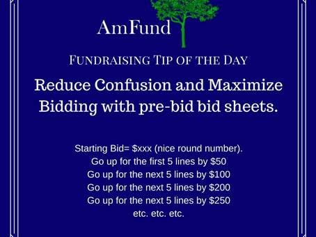 How to structure your bid sheets