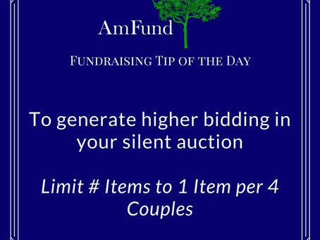 How to Determine # of Silent Auction Items