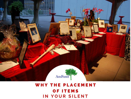 Proper Placement of Silent Auction Items Matters