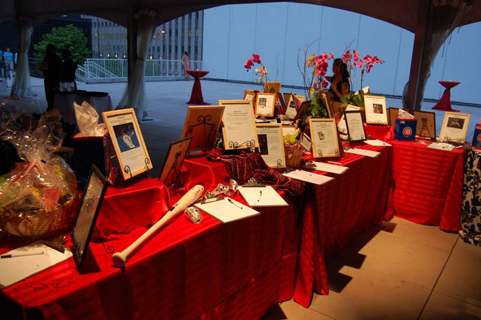 Silent Auction Items on Display