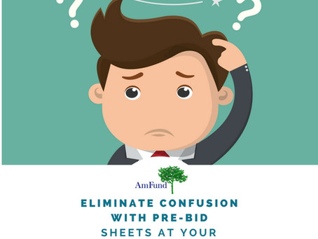 Eliminate Confusion with Pre-Bid Sheets at your Silent Auction
