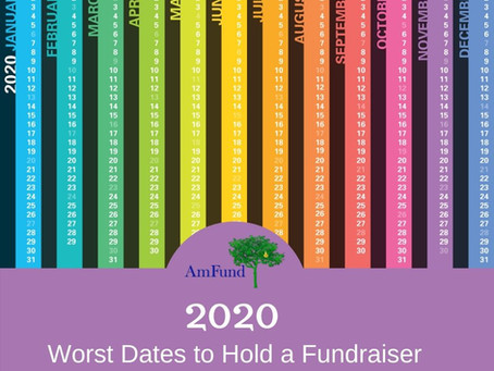 2020: Worst Dates to Hold a Fundraising Event