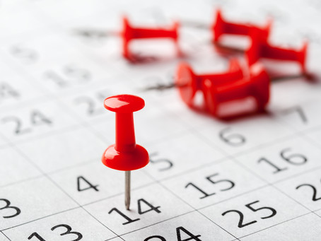 2019: AmFund's Worst Dates to Hold a Fundraiser