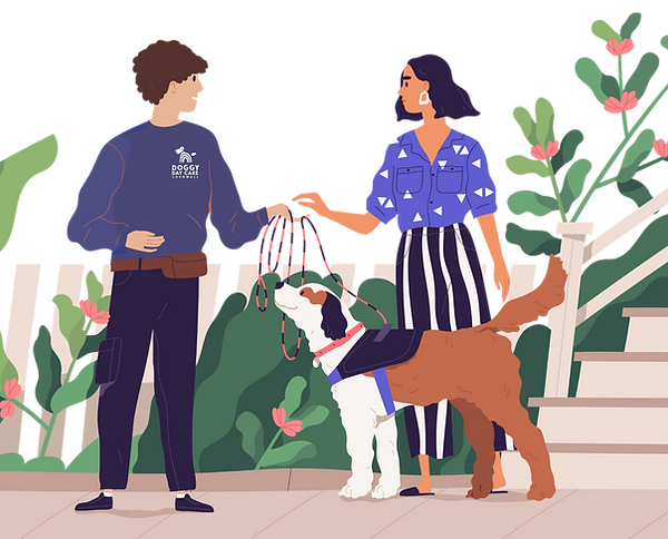 Doggy Day Care Cornwall illustration
