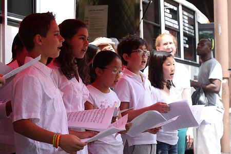 AME students singing