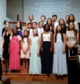 AME students sing for the benefit concert