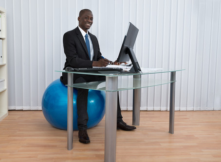 Swiss balls for Office Chairs - What does the evidence say?
