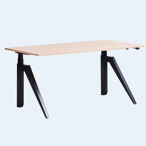 Cabale Height Adjustable Desk - Black/White