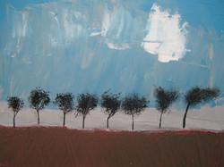 Paysage aux arbres