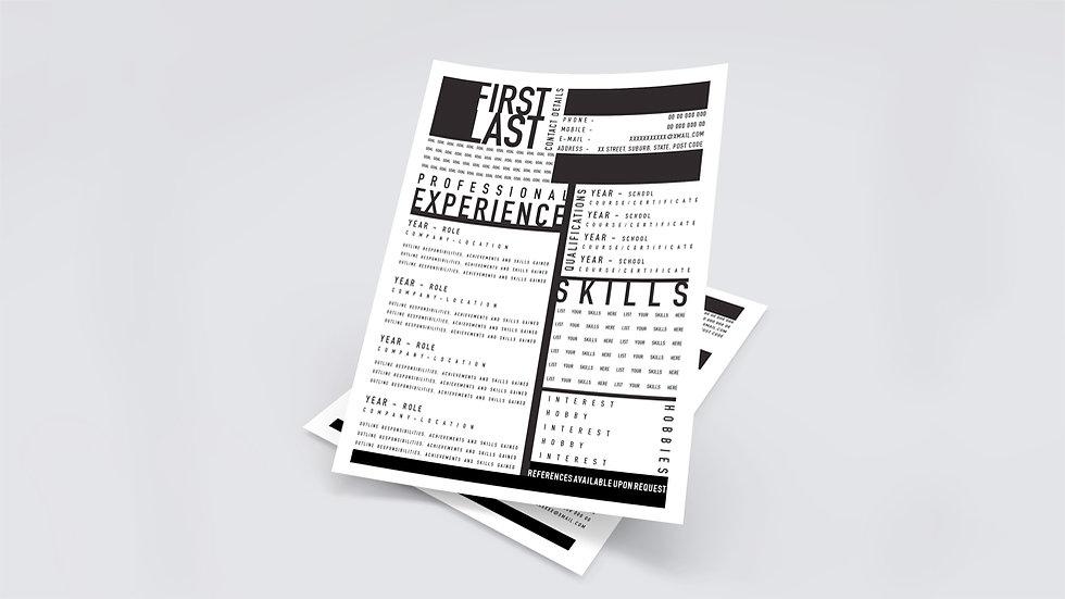 Bold Type Resume