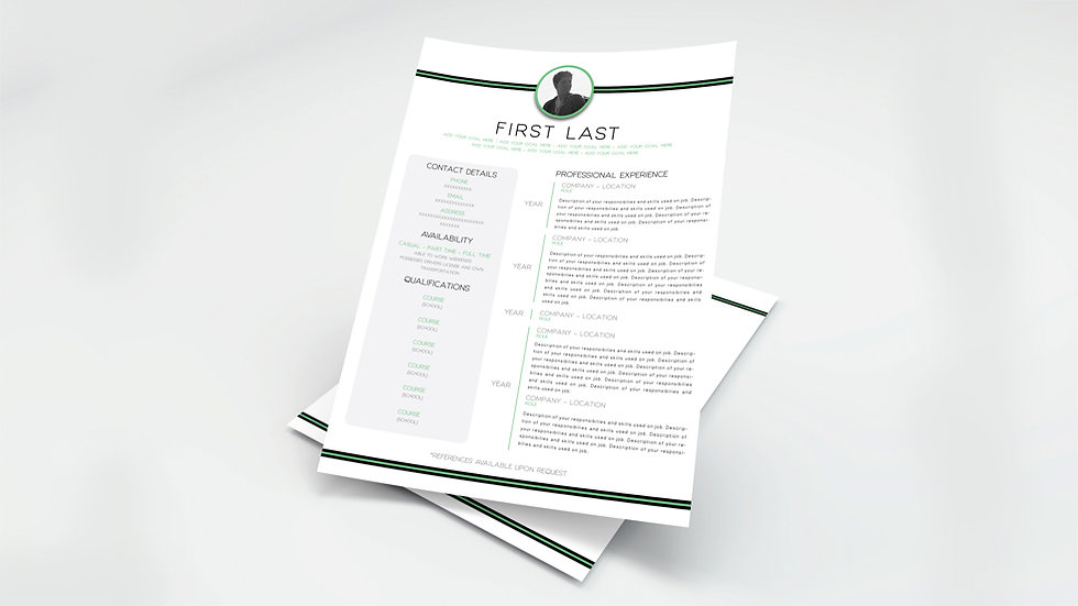Green Stripe Resume