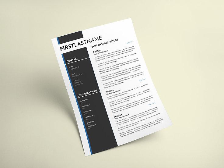 Blue Bar Resume
