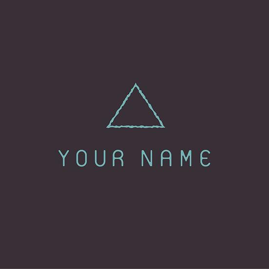 Simple Triangle Icon Logo
