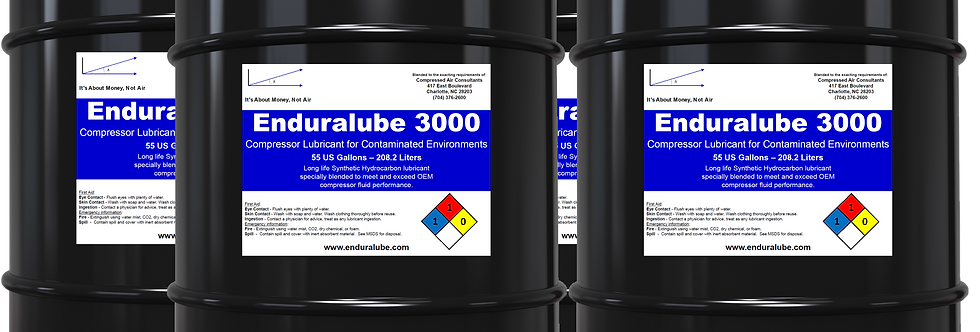 Enduralube 3000 Compressor Lubricant for Contaminated Environments (4 x 55 Gal)