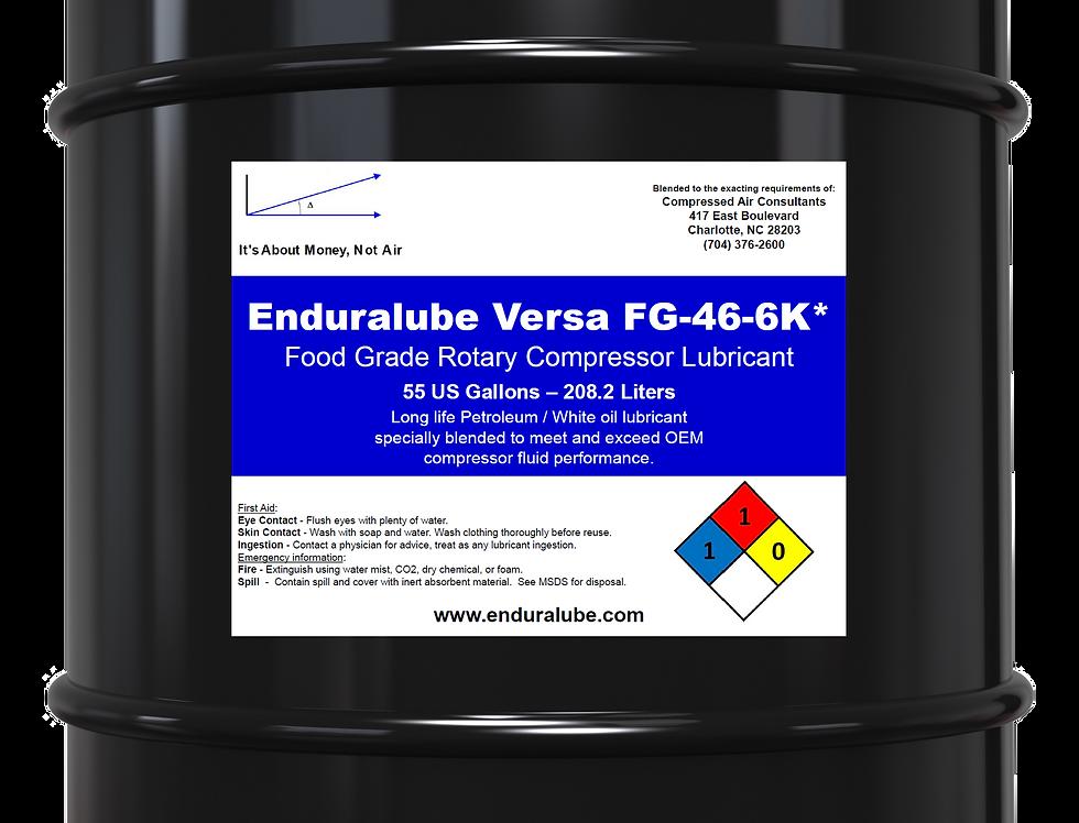 Enduralube Versa FG-46-6K* Food Grade Compressor Lubricant (55 Gal.)