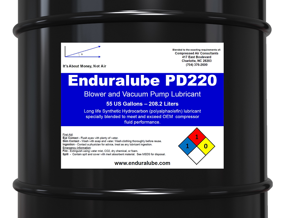 Enduralube PD220 Blower and Vacuum Pump Lubricant (55 Gal.)