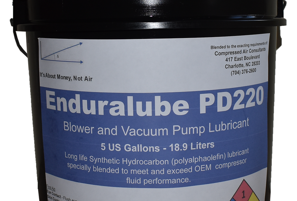 Enduralube PD220 Blower and Vacuum Pump Lubricant (5 Gal.