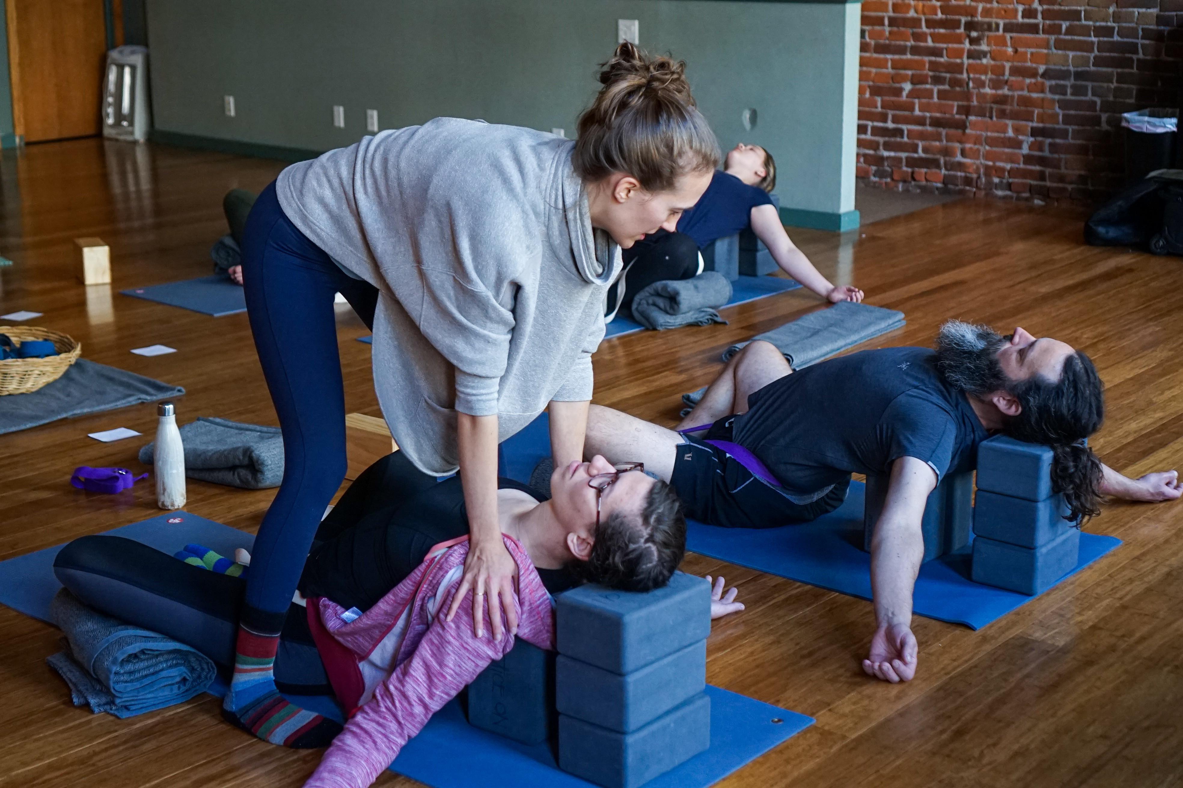 Large Group Katonah Yoga® Session
