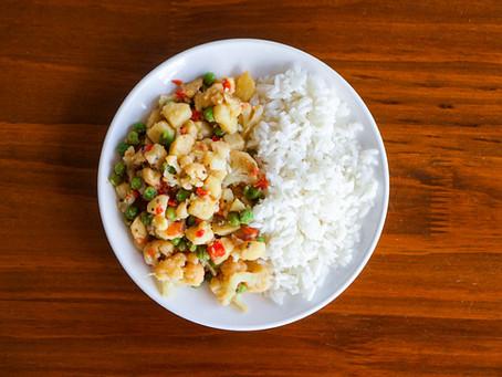 Cauliflower Potato Subji // Subji de Coliflor y Papas