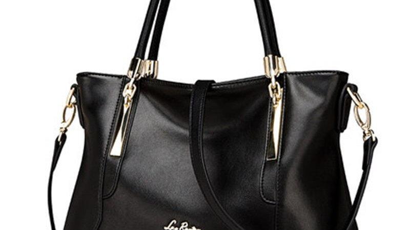 LAORENTOU Women Top-Handbags Luxury Lady Cowhide Leather Purse Casual Totes