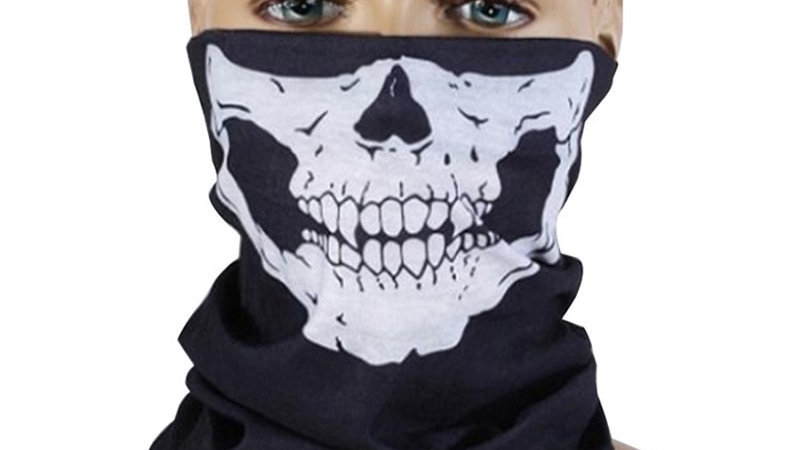 1 Piece Motorcycle Scarf Skull Ghost Scarf Biker Face Shield Face Neck Scarf