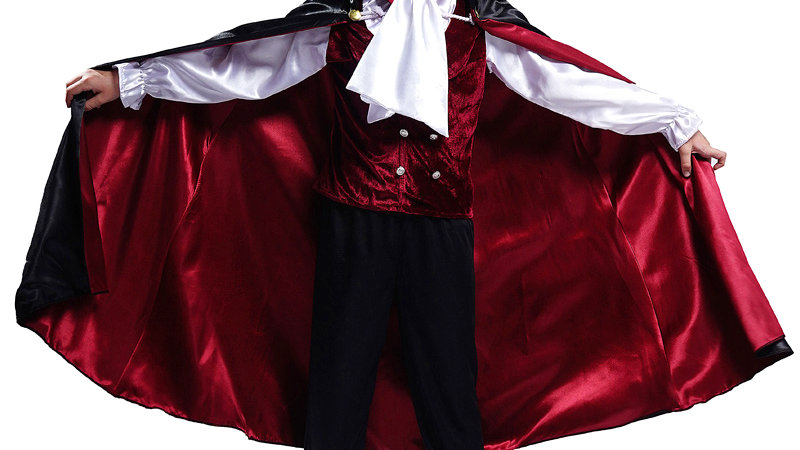 Halloween Vampire Costume for Boy Cosplay Child Deluxe Vampire Prince Clothes