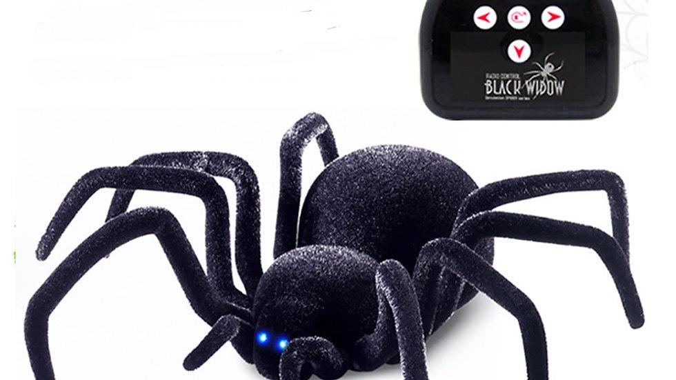 Electronic Pet Remote Control Simulation Tarantula Eyes Shine Smart Black Spider