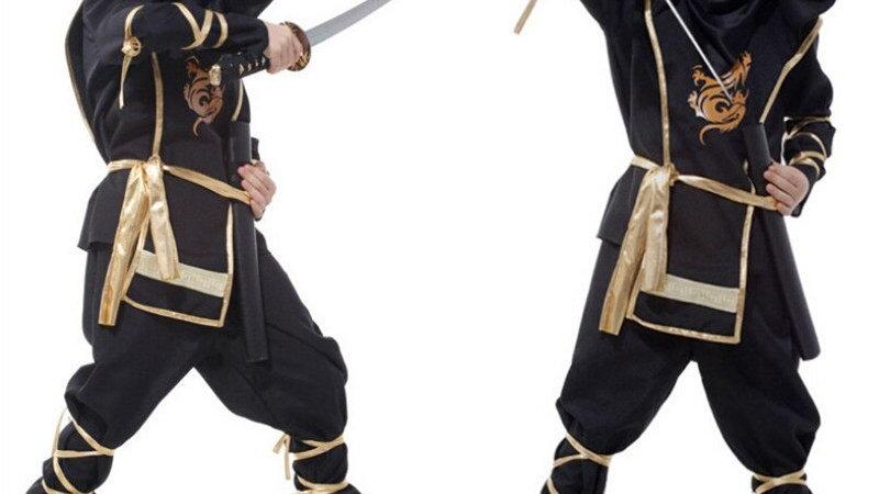 Kids Ninja Costumes Halloween Party Boys Girls Warrior Stealth Assassin Costume