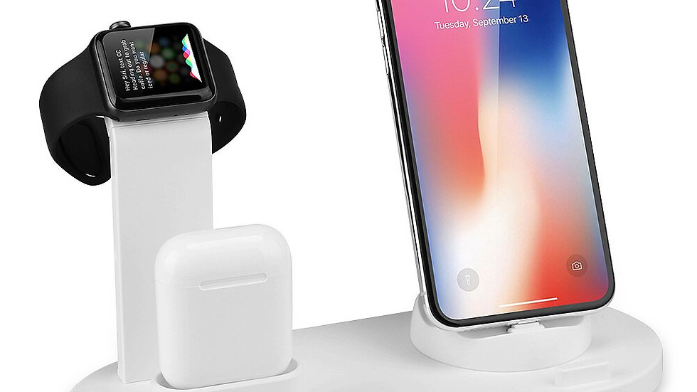 Mobile Phone Charger Stand 3 in 1 for iPhone AirpodsApple Watch Docking Station