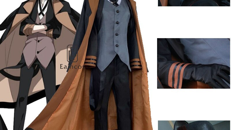 Anime Bungou Stray Dogs Costume Wig Port Mafia Halloween British Style Jackets