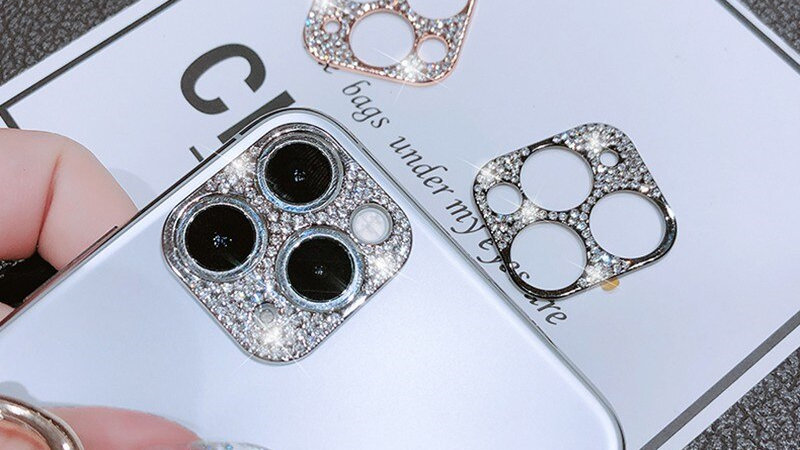 Bling Metal Glitter Phone Camera Lens Protection Case for IPhone 11