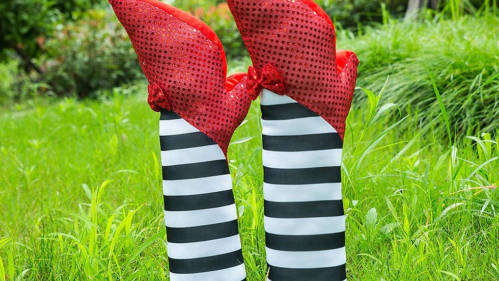 Halloween Wiked Witch Striped Halloween Decoration