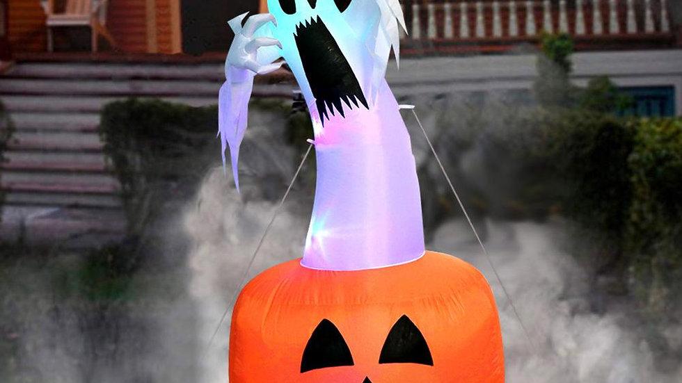 OurWarm 180cm Halloween Decorations Inflatable Ghost Pumpkin Outdoor Terror