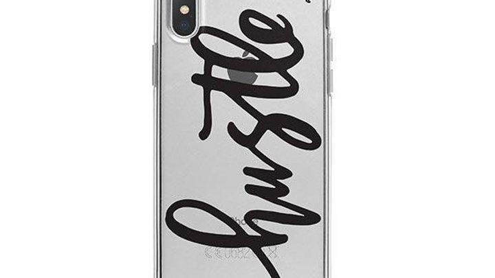 Hustle iPhone X Case Clear