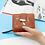 Thumbnail: Women Wallet Short Purse Gold Hollow Leaves Pouch Handbag Zipper Pocket Wallet