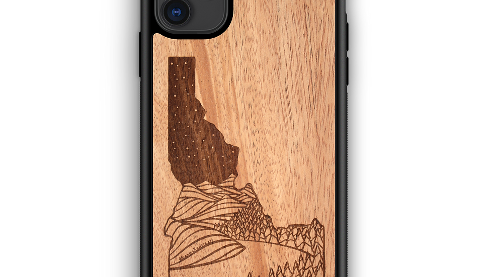 Wooden Phone Case | Outdoor Adventure - Idaho State Night Landscape