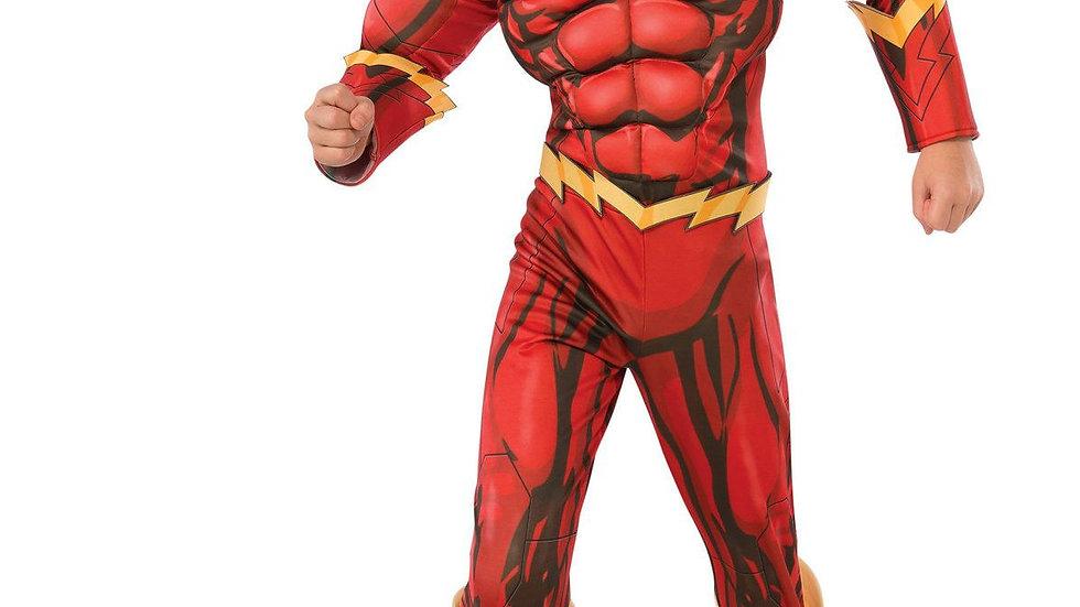 Boy's Flash Costume Kids Fantasy Comics Movie Carnival Party Halloween Flashman
